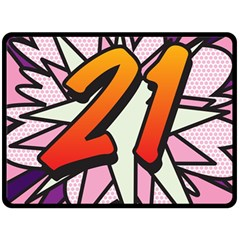 Comic Book 21 Pink Double Sided Fleece Blanket (Large)