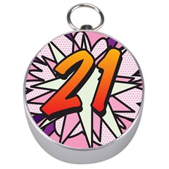 Comic Book 21 Pink Silver Compasses