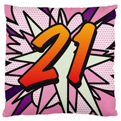 Comic Book 21 Pink Standard Flano Cushion Cases (Two Sides)