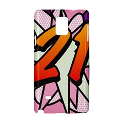 Comic Book 21 Pink Samsung Galaxy Note 4 Hardshell Case