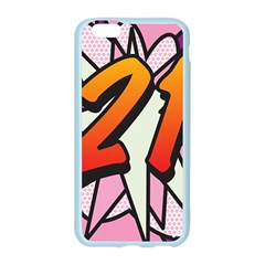Comic Book 21 Pink Apple Seamless iPhone 6/6S Case (Color)