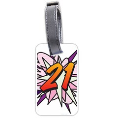 Comic Book 21 Pink  Luggage Tags (One Side)