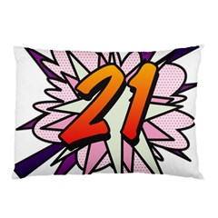 Comic Book 21 Pink  Pillow Cases (Two Sides)