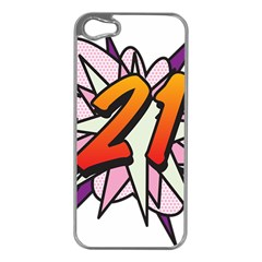 Comic Book 21 Pink  Apple iPhone 5 Case (Silver)