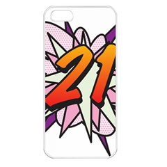 Comic Book 21 Pink  Apple iPhone 5 Seamless Case (White)