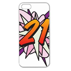 Comic Book 21 Pink  Apple Seamless iPhone 5 Case (Clear)