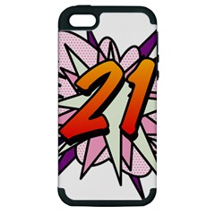 Comic Book 21 Pink  Apple iPhone 5 Hardshell Case (PC+Silicone)