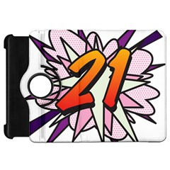 Comic Book 21 Pink  Kindle Fire HD Flip 360 Case