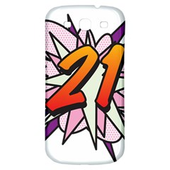 Comic Book 21 Pink  Samsung Galaxy S3 S III Classic Hardshell Back Case