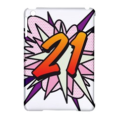 Comic Book 21 Pink  Apple iPad Mini Hardshell Case (Compatible with Smart Cover)