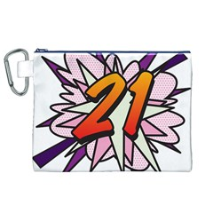 Comic Book 21 Pink  Canvas Cosmetic Bag (XL)