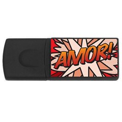 Comic Book Amor!  USB Flash Drive Rectangular (1 GB)