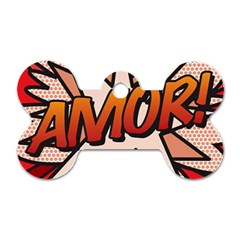 Comic Book Amor!  Dog Tag Bone (One Side)
