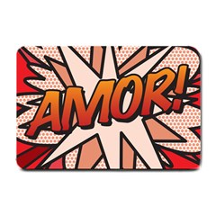 Comic Book Amor!  Small Doormat