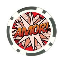 Comic Book Amor!  Poker Chip Card Guards (10 pack)