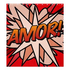 Comic Book Amor!  Shower Curtain 66  x 72  (Large)