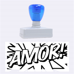 Comic Book Amor!  Rubber Stamps (large)