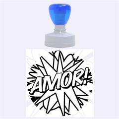 Comic Book Amor!  Rubber Round Stamps (Large)