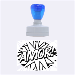 Comic Book Amor!  Rubber Oval Stamps