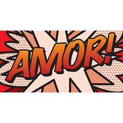 Comic Book Amor!  YOU ARE INVITED 3D Greeting Card (8x4)