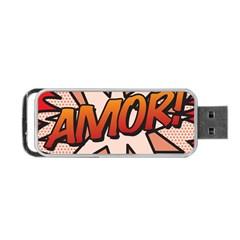 Comic Book Amor!  Portable Usb Flash (one Side)
