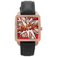 Comic Book Amor!  Rose Gold Watches