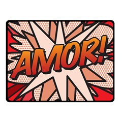 Comic Book Amor!  Double Sided Fleece Blanket (Small)