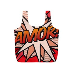 Comic Book Amor!  Full Print Recycle Bags (S)