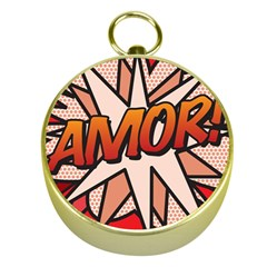 Comic Book Amor!  Gold Compasses