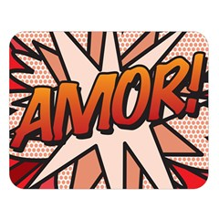 Comic Book Amor!  Double Sided Flano Blanket (large)