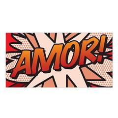 Comic Book Amor!  Satin Shawl