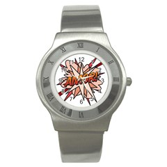 Comic Book Amor! Stainless Steel Watches