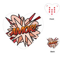 Comic Book Amor! Playing Cards (Heart)