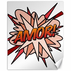 Comic Book Amor! Canvas 16  x 20
