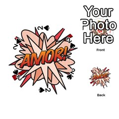 Comic Book Amor! Playing Cards 54 (round)