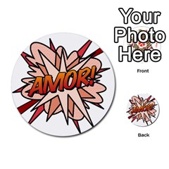Comic Book Amor! Multi-purpose Cards (Round)