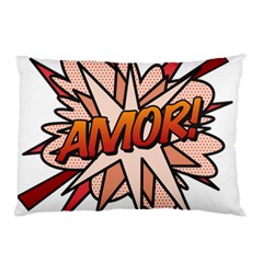 Comic Book Amor! Pillow Cases