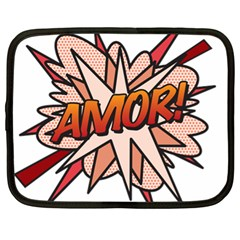 Comic Book Amor! Netbook Case (XL)