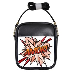Comic Book Amor! Girls Sling Bags