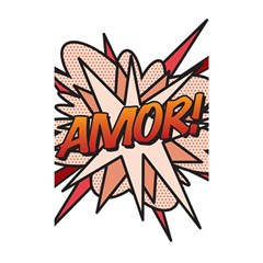 Comic Book Amor! Shower Curtain 48  x 72  (Small)