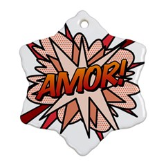 Comic Book Amor! Snowflake Ornament (2-Side)
