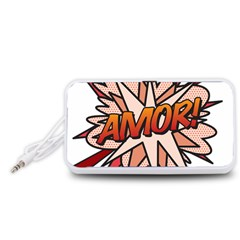 Comic Book Amor! Portable Speaker (White)
