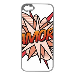 Comic Book Amor! Apple iPhone 5 Case (Silver)