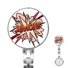 Comic Book Amor! Stainless Steel Nurses Watches