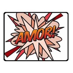 Comic Book Amor! Double Sided Fleece Blanket (Small)