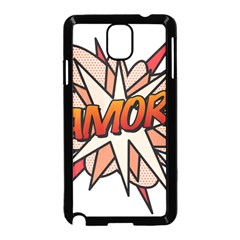 Comic Book Amor! Samsung Galaxy Note 3 Neo Hardshell Case (Black)
