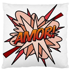 Comic Book Amor! Large Flano Cushion Cases (One Side)