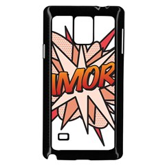 Comic Book Amor! Samsung Galaxy Note 4 Case (Black)