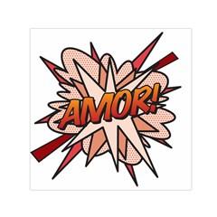 Comic Book Amor! Small Satin Scarf (Square)