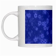 Snow Stars Blue White Mugs